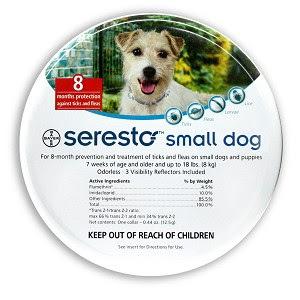 """קולר סרסטו לכלב קטן עד 8 ק""""ג"""