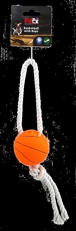כדור עם חבל משחק לכלב עם צפצפה מובנית לגירוי ייצר המשחק דגם EVO82