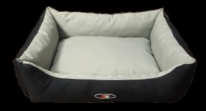 פטקס מיטה מפנקת לכלב בצבע אפור שחור מבד הדוחה מים – גודל קטן