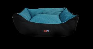 מיטה לכלב בצבע כחול מבד הדוחה מים בגודל 75X60X22