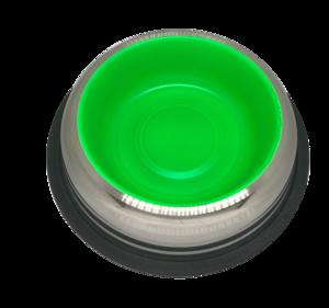 פטקס -קערת נירוסטה עם גומיות בתחתית בצבע ירוק זוהר 0.90 ליטר