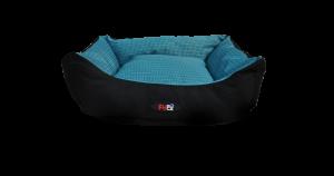 מיטה לכלב בצבע כחול מבד הדוחה מים בגודל 60X50X20