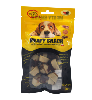 מיטי סנאק מזון מלא לכלבים 80 גרם (KNOTTED BONE WITH DUCKS)