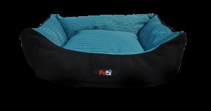 מיטה לכלב בצבע כחול מבד הדוחה מים בגודל 90X70X24