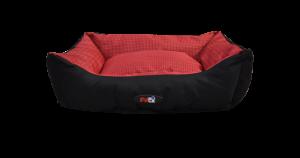 מיטה לכלב בצבע אדום מבד הדוחה מים גודל 60X50X20