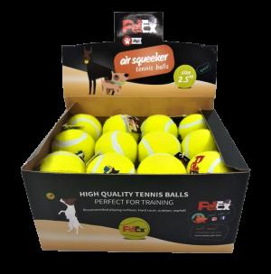 כדור טניס מצפצף בגודל של 2.5 אינץ