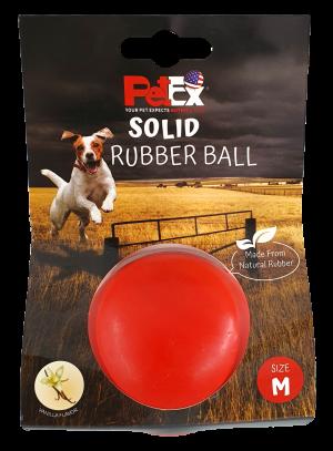 כדור דנטלי לכלב בצבע אדום עם ניחוח וניל גודל M מודל ER33