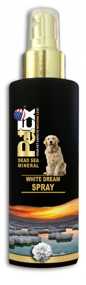 בושם לכלבים מועשר במינרלים של ים המלח בניחוח חלום לבן